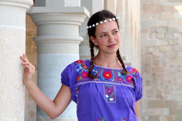 M Mexikanisches Kleid FLORIDA Größe S L  Oaxaca Dress